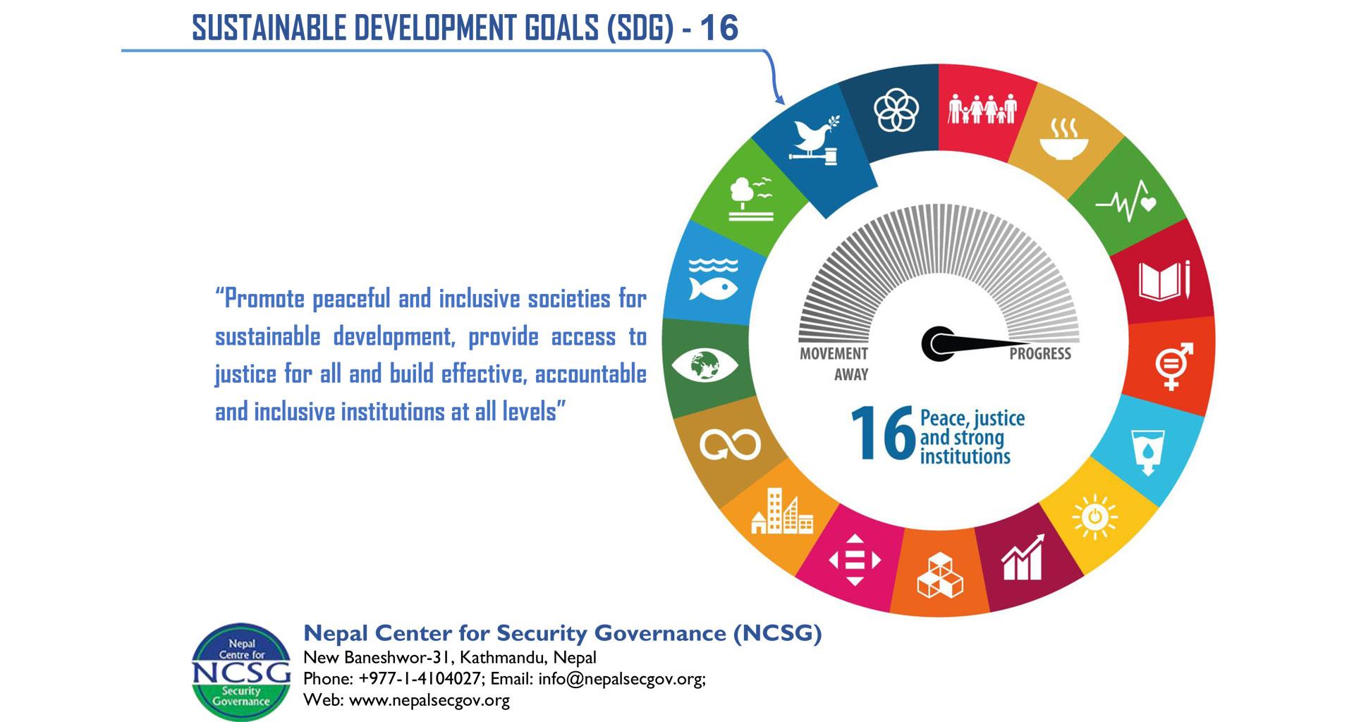 Sustainable Development Goals(SDG) -16