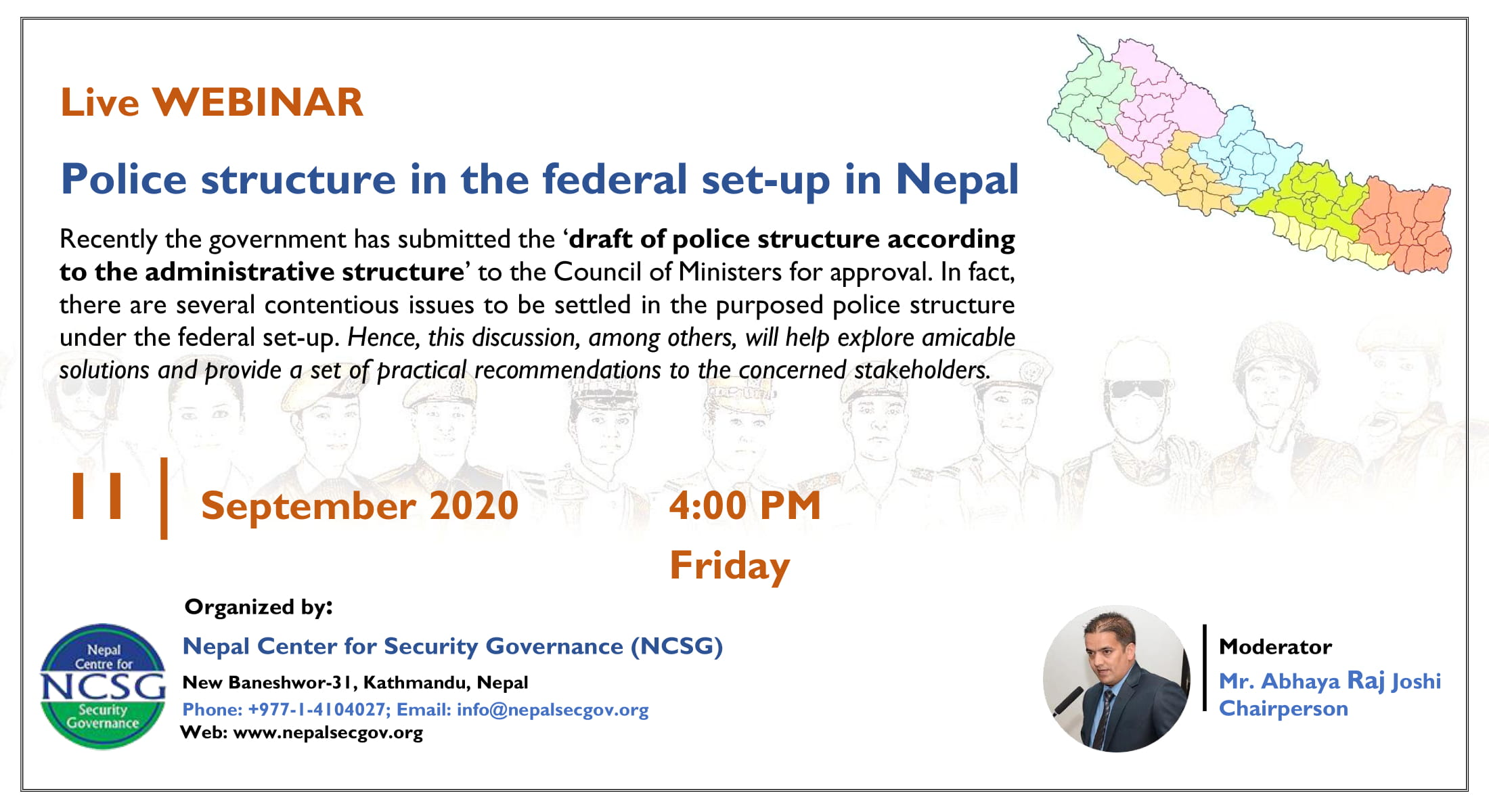 Webinar On Police Structure In The Federal Set-Up In Nepal